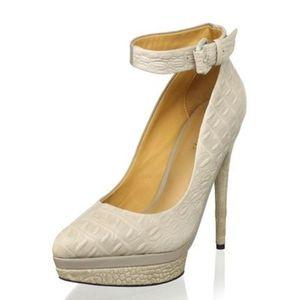 L.A.M.B Ofelia Ankle strap pumps